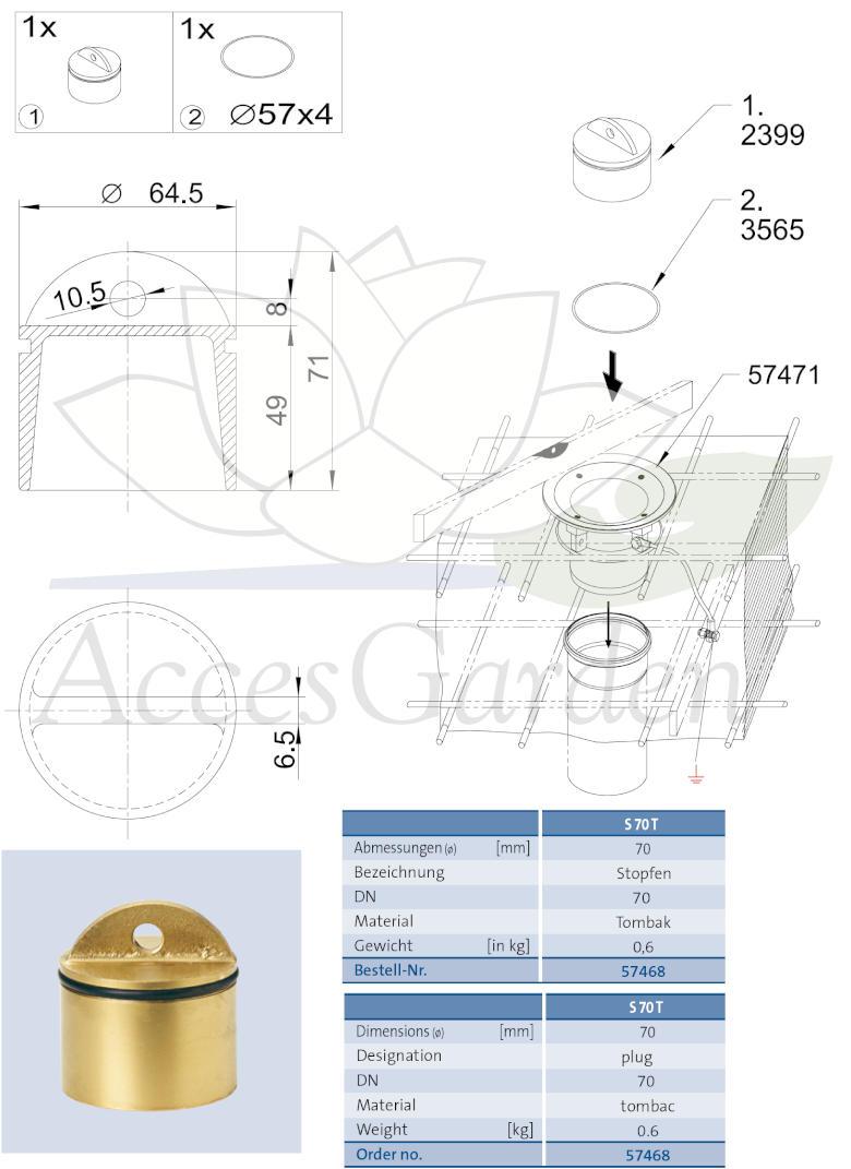 57468-Stopfen70T-korek70T-plug-Oase-wymiary