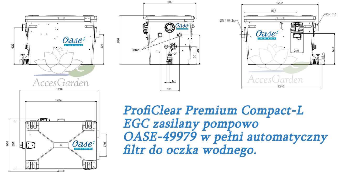 ProfiClear Premium Compact-L EGC zasilany pompowo